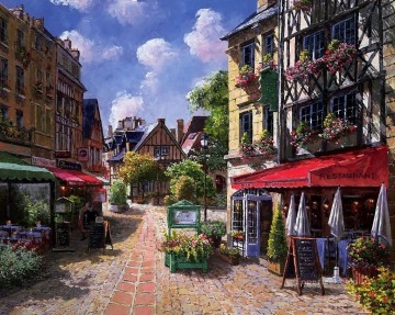UX008 European Towns Oil Paintings